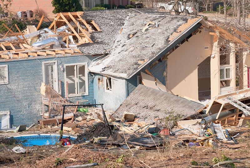 Tornado Damage.